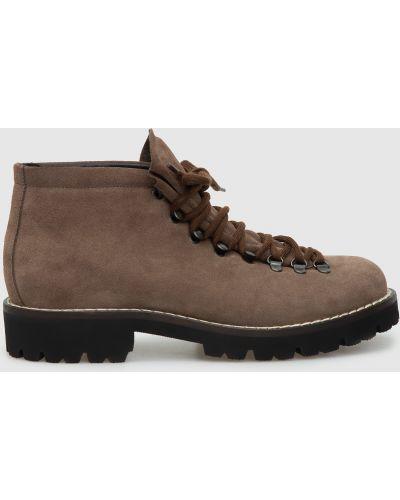 Замшевые ботинки - бежевые Peserico