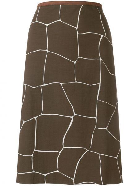 Прямая юбка миди винтажная в рубчик Miu Miu Pre-owned