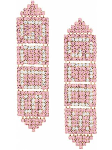 Розовые серьги с подвесками с бабочкой Gcds