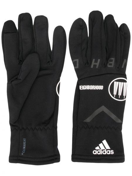 Ciepłe czarne rękawiczki Adidas