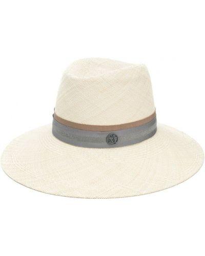 Бежевая шапка Maison Michel