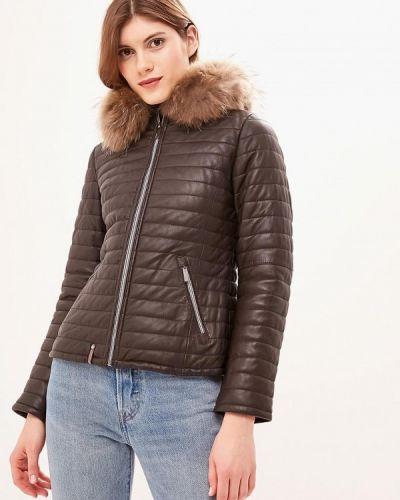 Кожаная куртка утепленная осенняя Oakwood