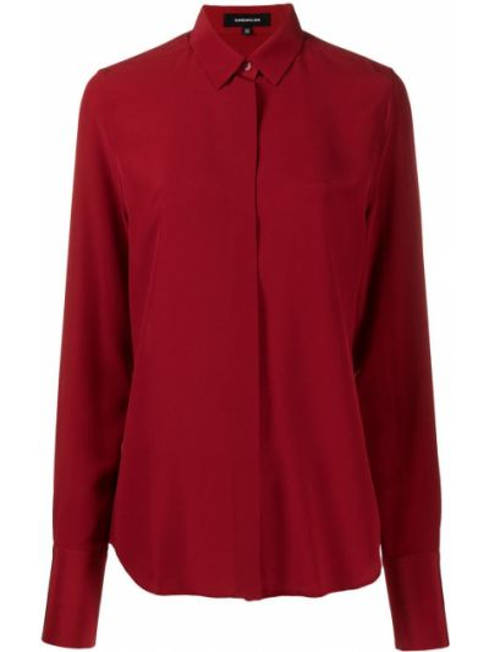 Klasyczna klasyczna koszula z długimi rękawami z jedwabiu Barbara Bui
