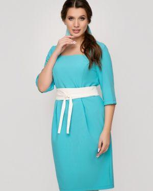 С рукавами приталенное летнее платье с вырезом для полных Belluche