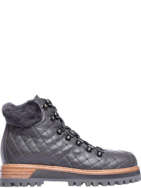Ботинки на платформе осенние кожаные Le Silla