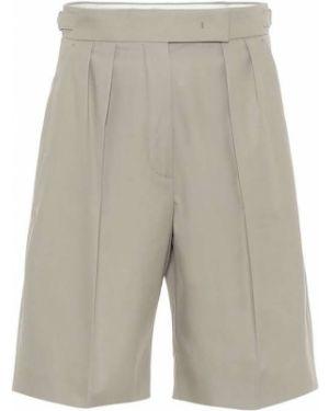 Хлопковые шорты хаки сафари Max Mara