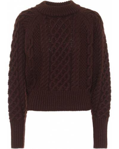 Шерстяной коричневый свитер Emilia Wickstead