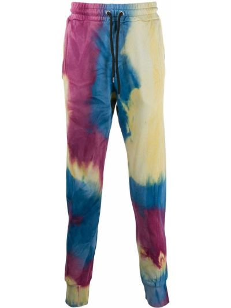 Спортивные синие спортивные брюки с поясом на шнурках Mauna Kea