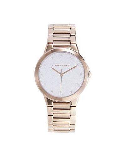 Zegarek kwarcowy srebrny kwarc Rebecca Minkoff