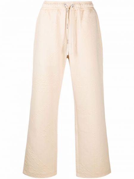Spodnie bawełniane - białe Palm Angels