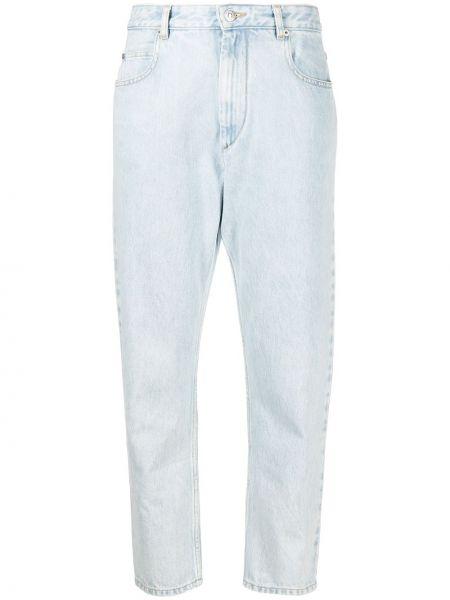 Bawełna bawełna niebieski jeansy do kostek z kieszeniami Isabel Marant