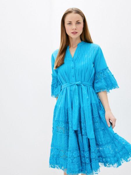 Платье прямое бирюзовый Fresh Cotton