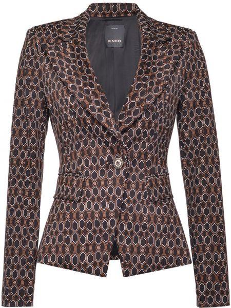 Черный пиджак на пуговицах с лацканами Pinko