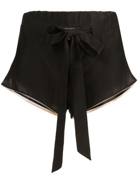 Шелковые черные шорты Kiki De Montparnasse