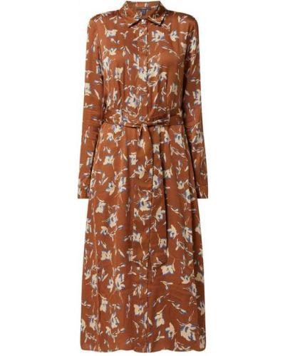 Pomarańczowa sukienka z wiskozy Esprit Collection