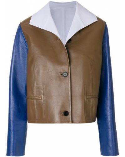 Коричневая длинная куртка Marni