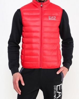 Спортивный костюм красный теплый Ea7