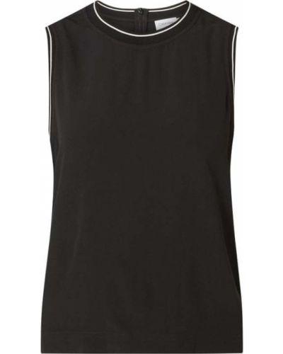 Czarny top w paski z wiskozy Ck Calvin Klein