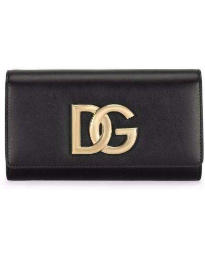 Złota kopertówka - czarna Dolce And Gabbana