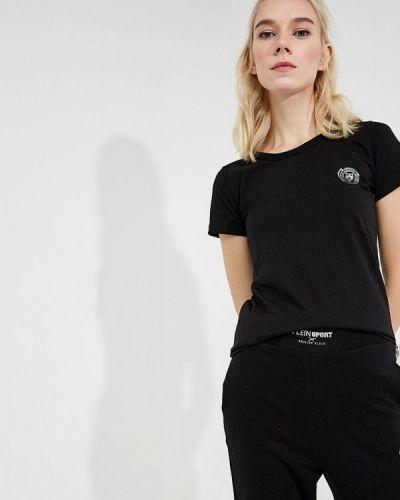 Футбольная черная спортивная футболка Plein Sport