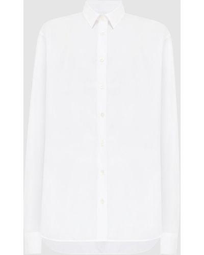 Рубашка с вышивкой - белая Toteme