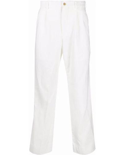 Białe spodnie z paskiem Comme Des Garcons Homme Plus