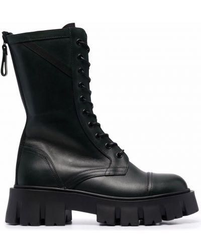 Ботильоны на шнуровке - черные Premiata