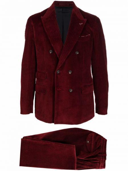 Красный кашемировый костюм Eleventy