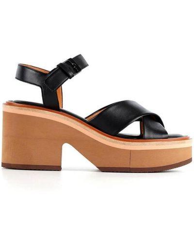 Czarne sandały Clergerie