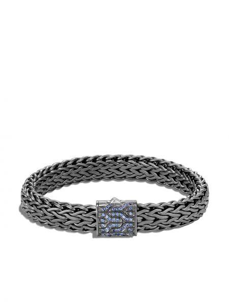 Классический синий браслет матовый c сапфиром John Hardy