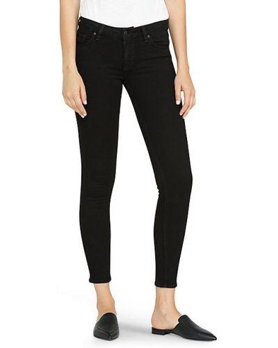 Зауженные черные джинсы-скинни с карманами Hudson