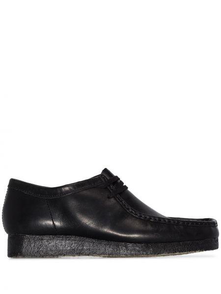Кожаные черные кожаные туфли Clarks Originals
