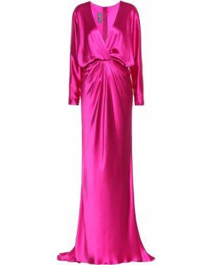 Шелковое платье - розовое Monique Lhuillier