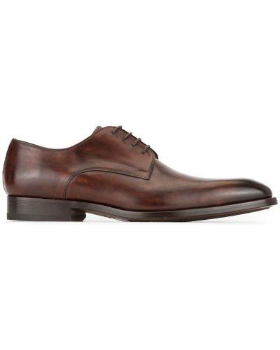Туфли на шнуровке коричневый Magnanni