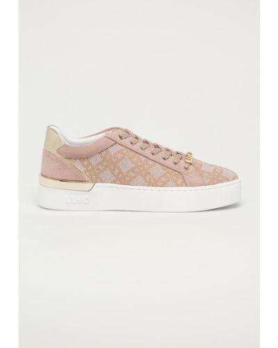Różowe sneakersy sznurowane Liu Jo
