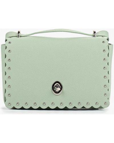 Кожаный сумка через плечо зеленый Fabretti