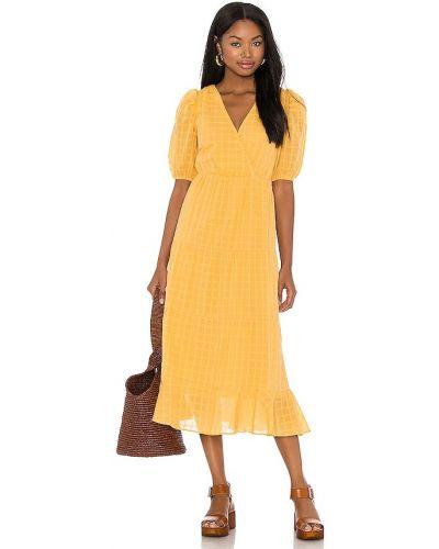 Sukienka wieczorowa vintage - żółta Heartloom