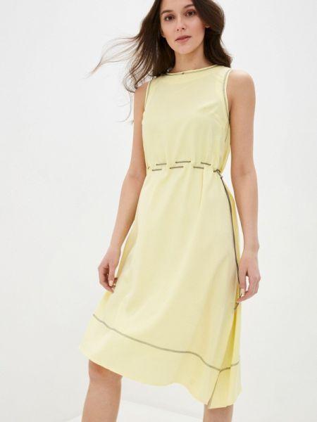 Прямое желтое платье Savage
