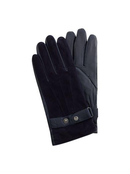 Niebieskie rękawiczki skorzane Joop! Collection