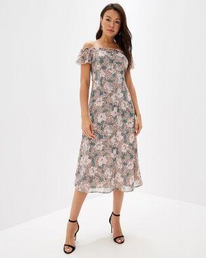 Платье розовое с открытыми плечами Befree