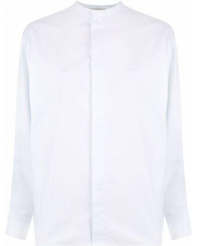 Рубашка с длинным рукавом белая с воротником-стойкой Egrey