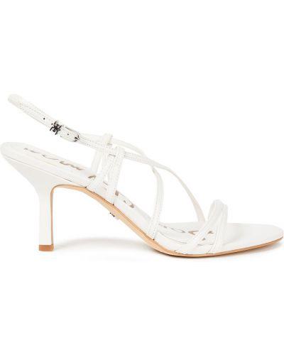 Białe sandały z klamrą Sam Edelman