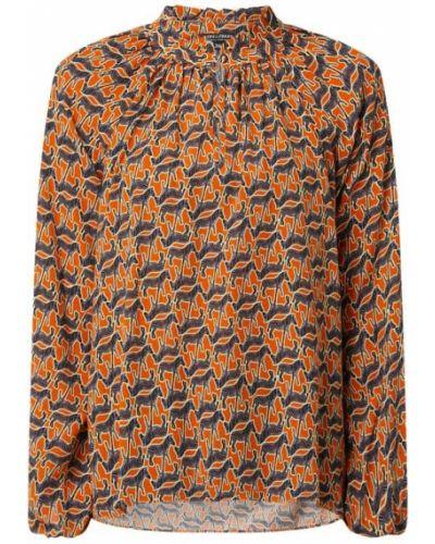Pomarańczowa bluzka z nadrukiem z printem Risy & Jerfs