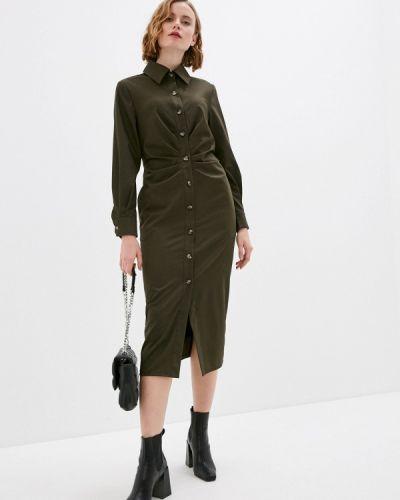 Зеленое платье-рубашка Annborg