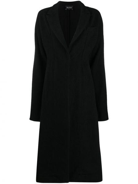 Тонкое с рукавами кашемировое черное длинное пальто Andrea Ya'aqov