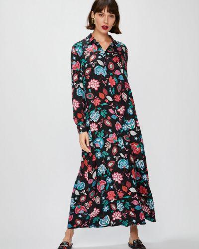 Платье макси на пуговицах с длинными рукавами Answear