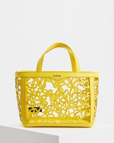 Желтая кожаный сумка Tous