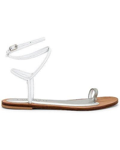 Białe sandały skorzane na co dzień Cornetti