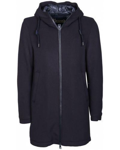 Niebieski płaszcz Herno