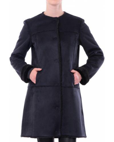 Пальто из полиэстера - синее Armani Jeans